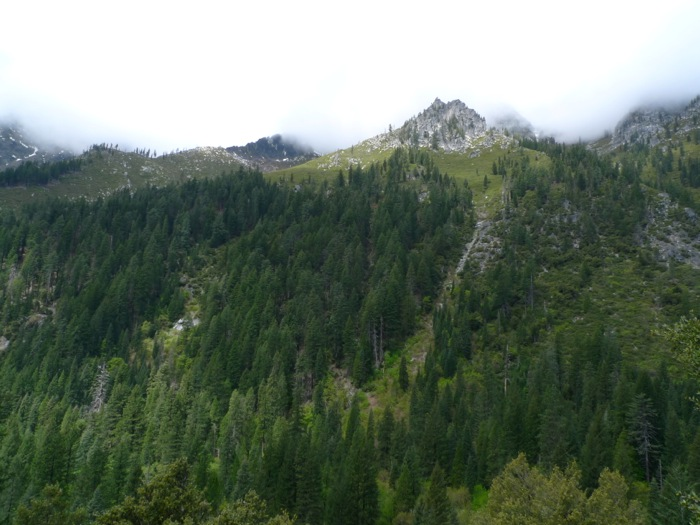 Western slopes of Canyon Creek