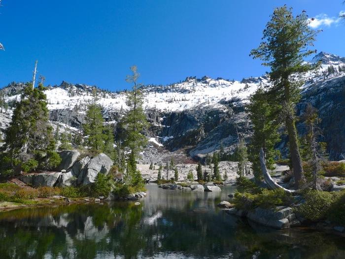 Surreal ponds in the Boulder Creek Lake basin