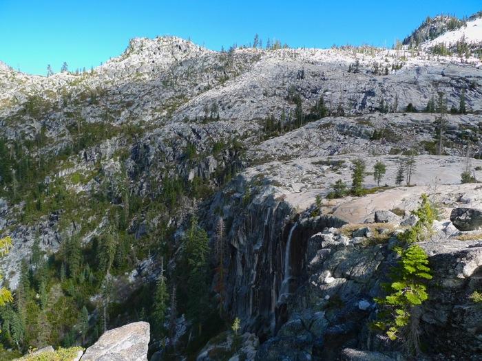 Boulder Creek Lake outlet waterfall