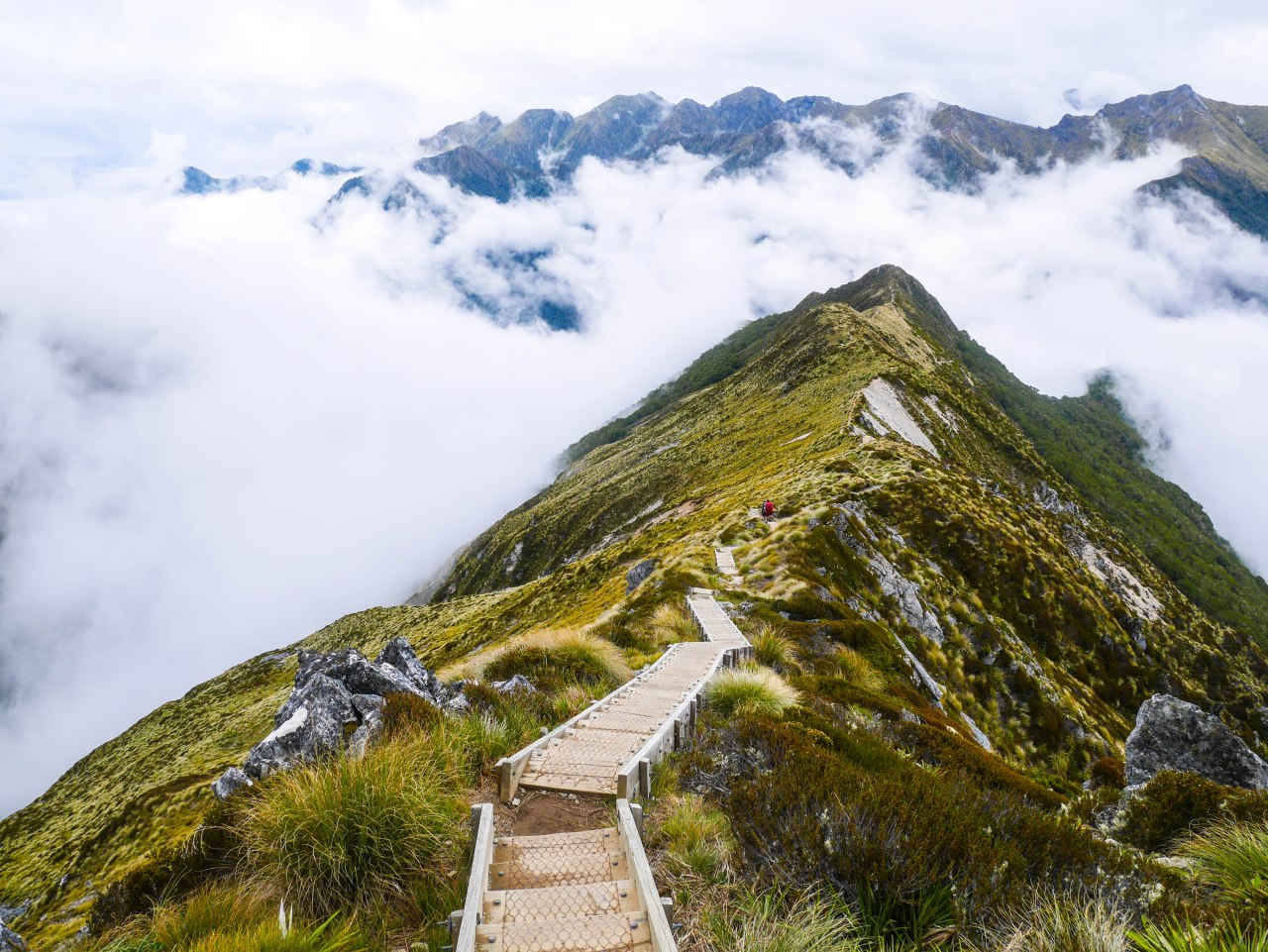 Kepler Track In Fiordland National Park New Zealand